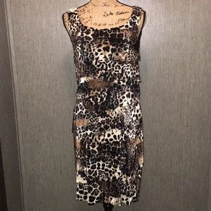 Connected Apparel Multi-Layered Look Dress Size 12